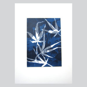 maple leaves monoprint