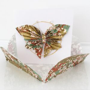 origami butterfly card with envelope